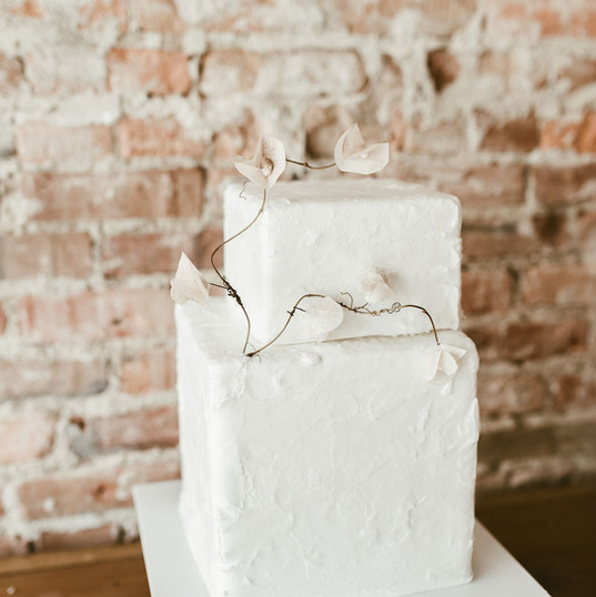 Rustic Modern Wedding Cake