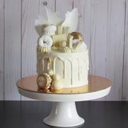 Chocholate Donut Birthday Cake