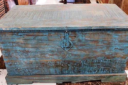 Blue Wash Wooden Box