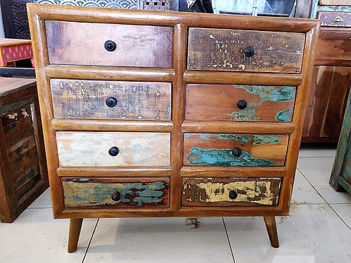 Reclaimed Wood 8Drawer Unit