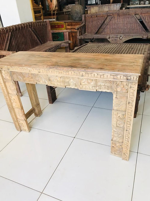 Hand Carved Large WD Console Table