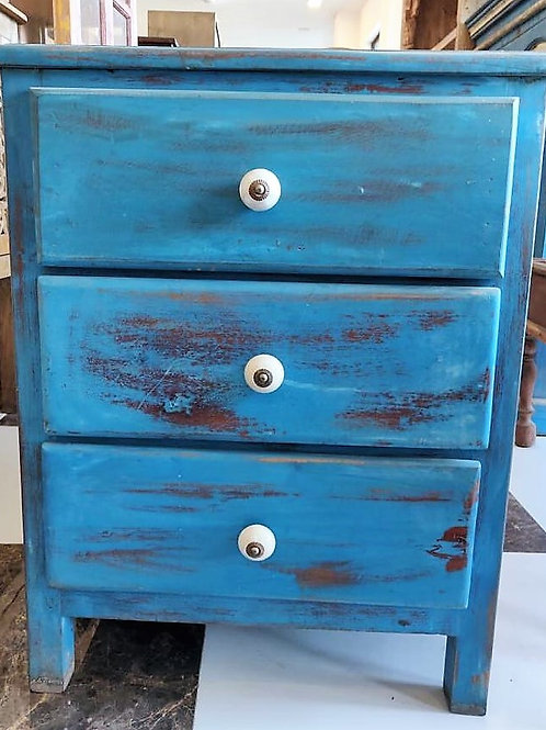 Blue Wash 3 Drawer Small Unit