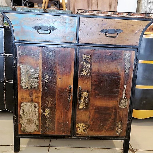 Reclaimed Wood 2 Door Unit