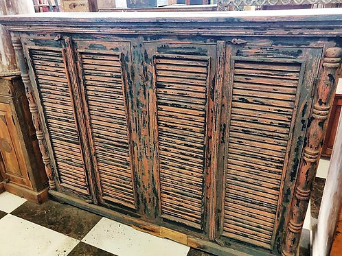 4 Door Distressed Cabinet Unit