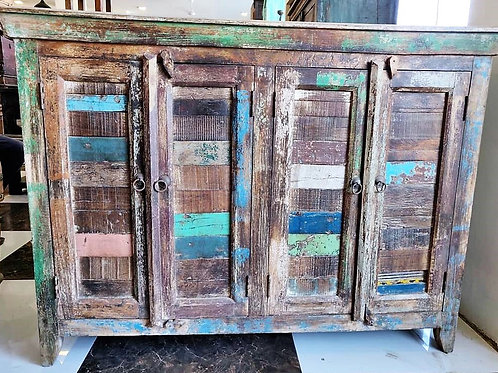 Reclaimed Wood 4 Door Unit