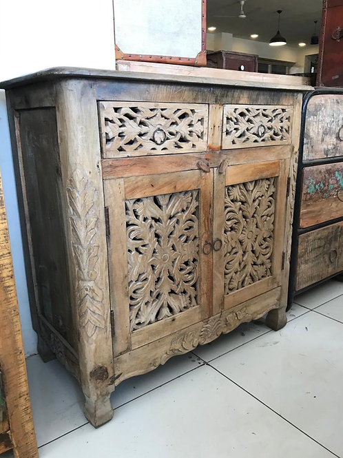 Hand Carved WD 2 Draw 2 Door Unit