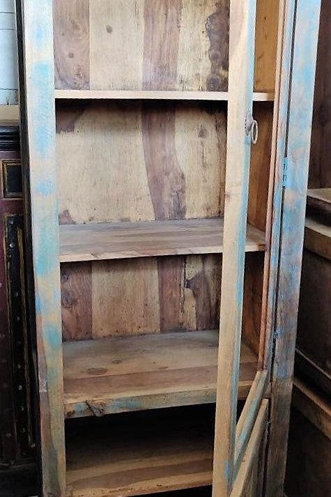 Blue Wash Large Wood Unit
