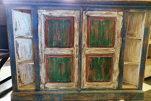 Distressed 2Door Wooden Corner Unit