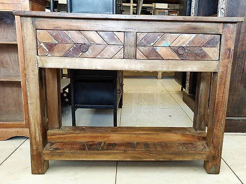 Reclaimed Wood 2 Drawer Unit