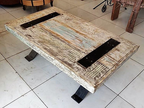 Distressed Wood Console (White Wash)