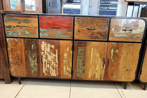 Reclaimed Wood Industrial Unit