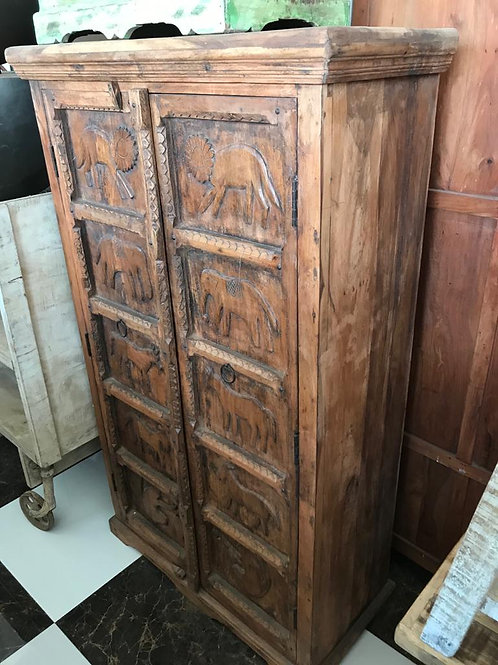Old Stripped Back Natural 2 Door Cabinet