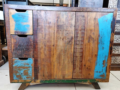 Reclaimed Wood Distressed Unit