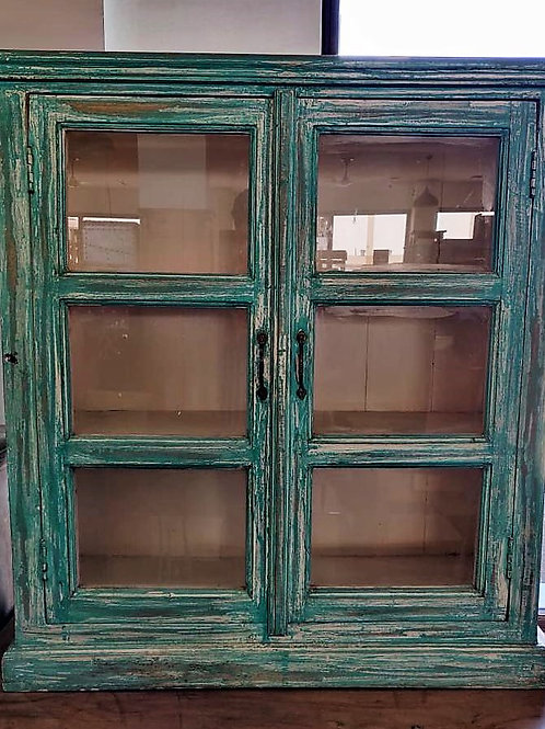 Green Colour 2 Glass Door Small Unit