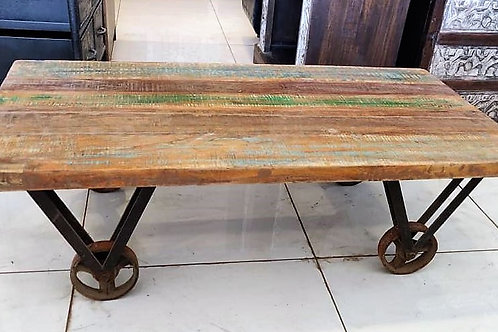 Reclaimed Wood Metal Base Consol