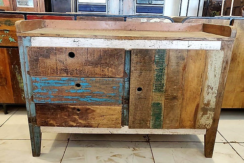 Reclaimed Wood 3Drawer Unit