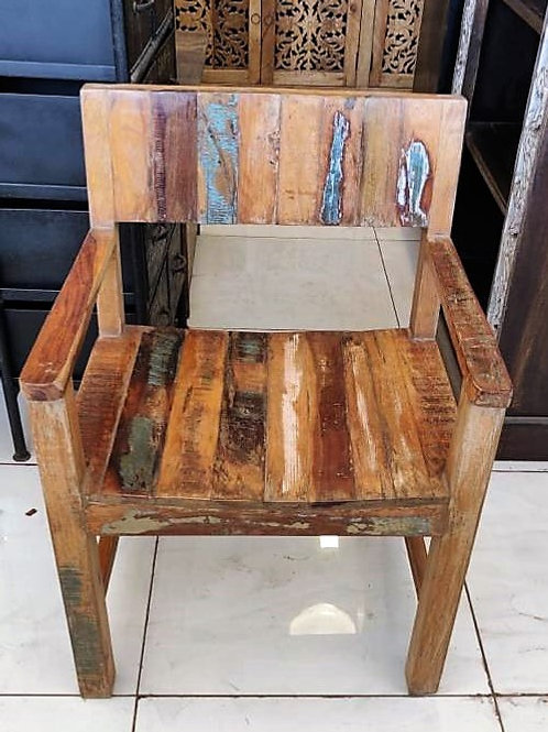 Reclaimed Wood Distressed Chair