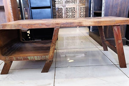 Low Height Distressed Wood Console