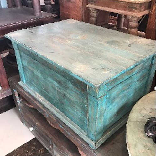 Old Wood Box Blue Wash