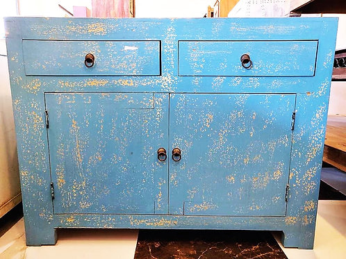 2 Door wooden Blue Wash Unit