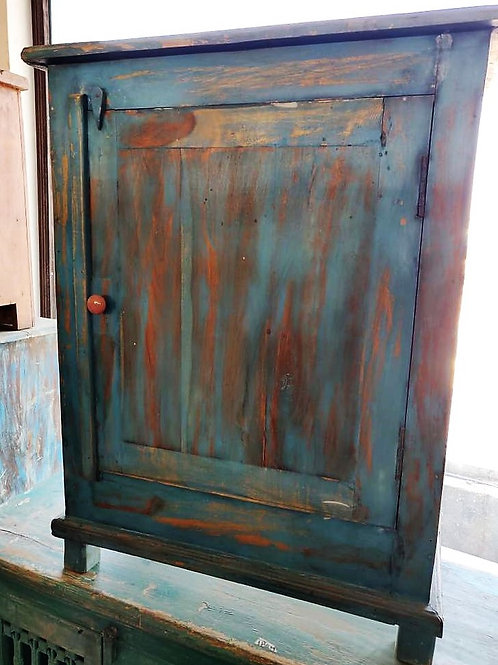 Blue Wash Wood Small Unit
