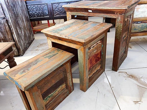 Reclaimed Wood Set Of 3 Unit