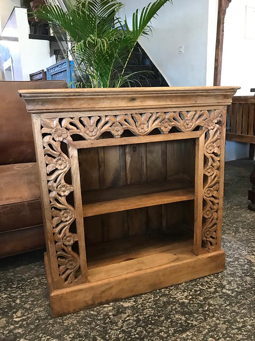 Hand Carved Wood Shelf Unit