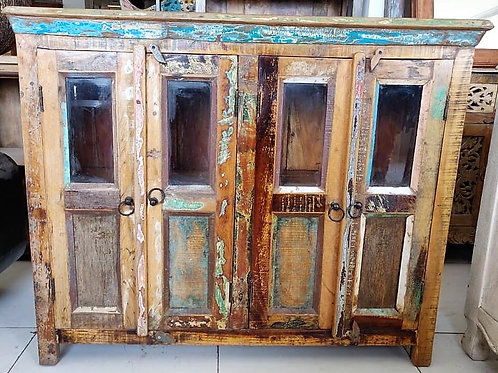 Distressed Wood 4Door Unit