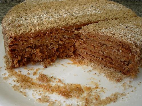 Torta de nuez crocante