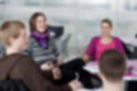 Intermediate Spanish Students in a conversation class
