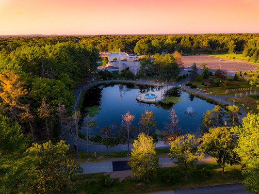 Aerial View Rosary Pond