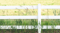 White Post and Rail Fence