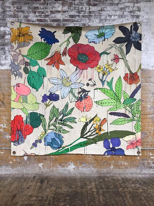 EVAN PAUL ENGLISH - Spill (Flower Tarp)