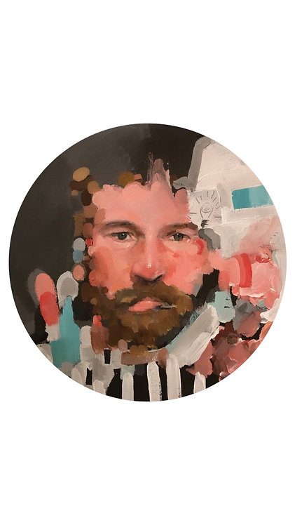CHAD CLEVELAND - Self-Portrait with Stripes