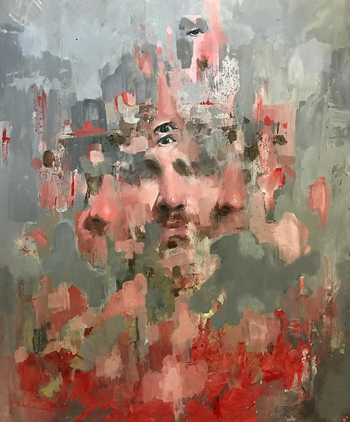 CHAD CLEVELAND - Self-Portrait in Red