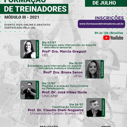 FORMAÇÃO DE TREINADORES - PARADESPORTO