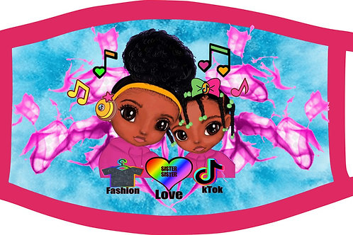 """""""For the Love of TikTok"""" pink Mask  Ages  6 and under"""