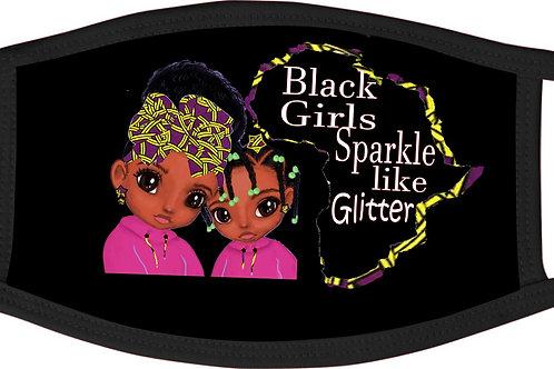 Black Girls Sparkle mask