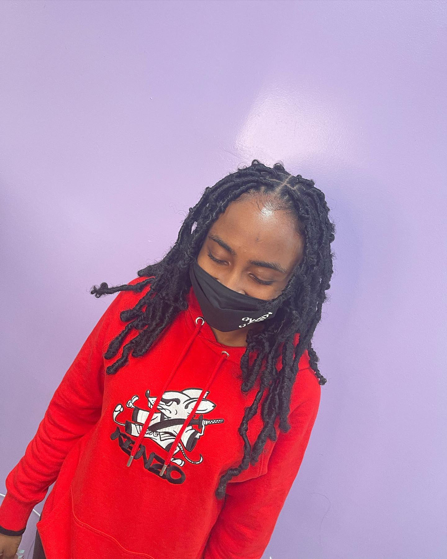Shoulder Length Butterfly locs