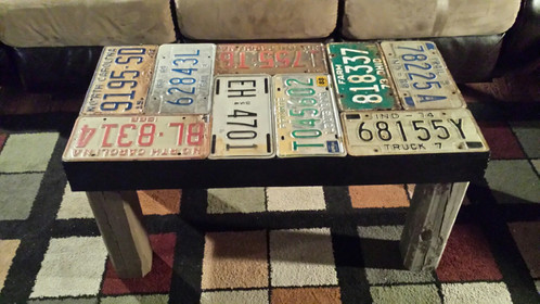 Superieur License Plate Coffee Table