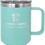 Thumbnail: Polar Camel 15 oz. Vacuum Insulated Handle Mug with Slider Lid