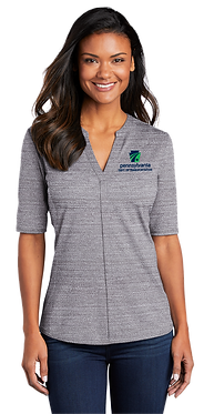 Ladies Port Authority Stretch Heather Polo