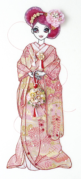 和の花嫁 桃