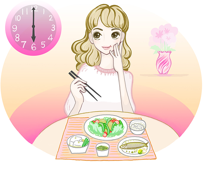 白川みきさん 夕食