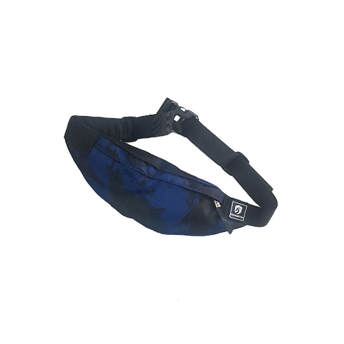 Pochete resistente a água azul mesclado
