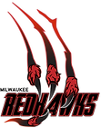Milwaukee Redhawks Primary Logo