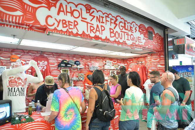 Street Artist AHOL Sniffs Glue Opens Cyber Trap Boutique