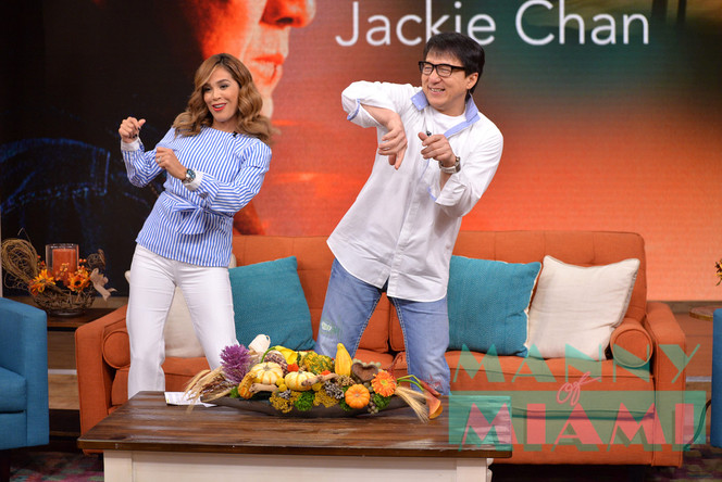 Jackie Chan Visits Morning Show in Doral