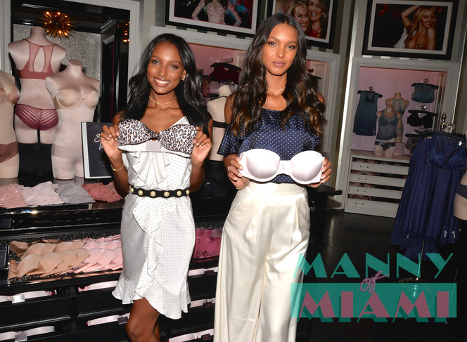 Victoria's Secret Models Jasmine Tookes and Lais Ribiero Visit Aventura Mall Store
