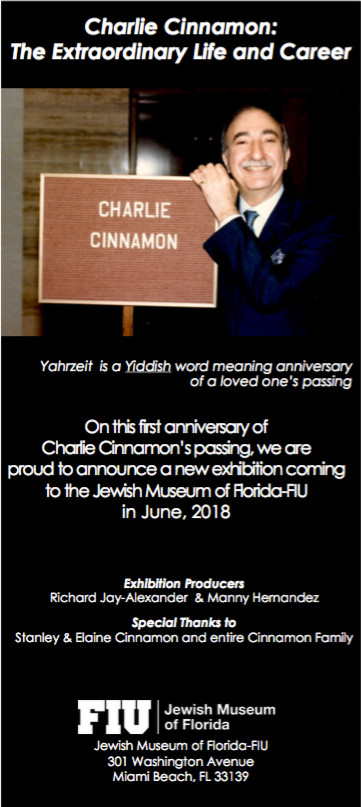 NEXT SUMMER: The Charlie Cinnamon Exhibit